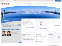site interne de V�olia Environnement